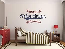 Amazon Com Personalized Name Baseball Wall Decal Bedroom Wall Decals Nursery Wall Decals Boys Baseball Art Vinyl Sticker Baby