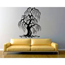 Unbranded Weeping Willow Tree Creepy Large Wall Vinyl Decal Die Cut 22 Tall Color Choices