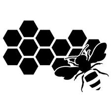 Amazon Com Cute Honeycomb And Bee Vinyl Decal Sticker Black Automotive