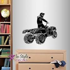 Vinyl Decal Four Wheeler Quad Extreme Sports Boy Room Decor Wall Sticker 693 For Sale Online Ebay