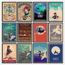 Kiki S Delivery Service Classic Movie Poster Vintage Poster Wall Stickers For Living Room Home Decoration Wish