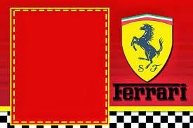 Ferrari Invitaciones Para Imprimir Gratis Ideas Y Material