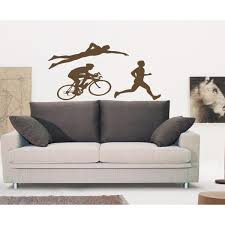 Shop Triathlon Sport Wall Art Sticker Decal Brown On Sale Overstock 11719506