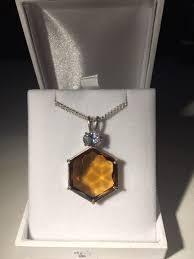 light citrine crystal pendant