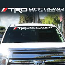 Product Toyota Trd Windshield Tacoma Tundra Off Road Racing 4x4 Decal Sticker Vinyl Ll