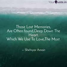 those lost memories are quotes writings by shehryar aman