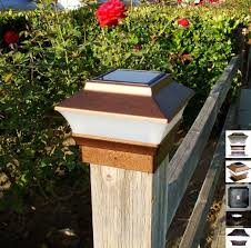 4x4 Copper Solar Post Cap Lights Set Of 2 Upgraded 2 Smd White Led Fence Post Caps Solar Post Caps Wood Post