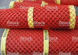 Rolls Of Plastic Fence Mesh Safety Warning Net Stock Photo Download Image Now Istock