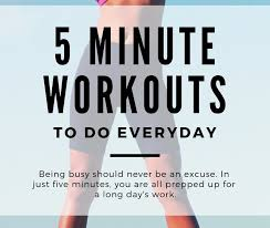 5 min workout you can do at home for