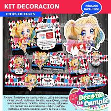 Kit Imprimible Harley Quinn Invitacion Decoracion E41 S 9 99 En