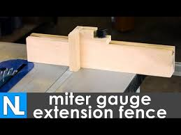 How To Make A Miter Gauge Extension Fence Woodworking In The Garage Youtube