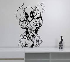 Amazon Com Deadpool Vinyl Decal Wall Vinyl Sticker Marvel Comics Superhero Art Best Decorations For Home Living Room Playroom Childrens Boys Room Decor Made In Usa Fast Delivery Home Kitchen