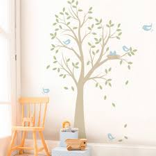 Tree With Birds And Nest Contemporary Wall Decals By Simple Shapes