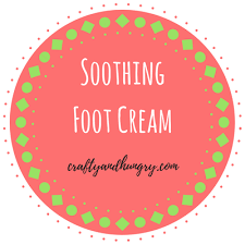 homemade soothing foot cream includes