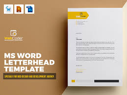 letterhead template by design on