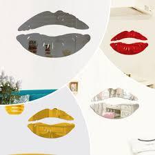 3d Wall Sticker Mirror Acrylic Kiss Lip Decal Home Room Art Mural Decor Removable Modern Fashion Walmart Com Walmart Com