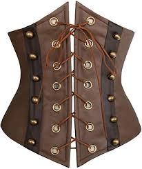 retro faux leather victorian underbust
