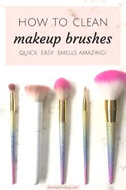 how to wash your makeup brushes it s