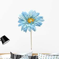 Amazon Com Wallmonkeys Blue Daisy Wall Decal Peel And Stick Floral Graphic 36 In H X 24 In W Wm356104 Furniture Decor
