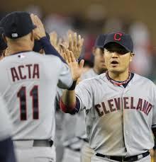 Shin Soo Choo Manny Acta Cleveland Indians Tqccxantnc Shin-Soo ...