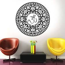 Large Big Size Om Symbol Mandala Decal Hot Room Decoration Waterproof Vinyl Sticker Adhesive Wallpaper Modern Murals Ma 06 Wall Stickers Aliexpress