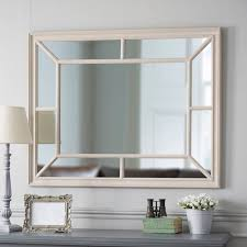 extra large painted wooden panel mirror