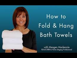 fold hang bath towels like a spa