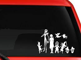 Nightmare Christmas Wall Car Decal Sticker Jack Skellington Highest Quality