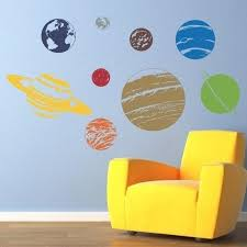 Planet Wall Decal Set Solar System Sticker Wall Decor Etsy