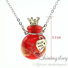 glass urn necklace remembrance jewelry