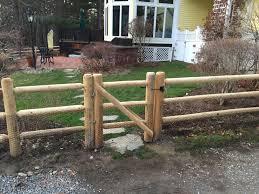 Cedar Round Dowel 3 Rail Single Walk Gate Fence Gate Patio Fence Wood Gate