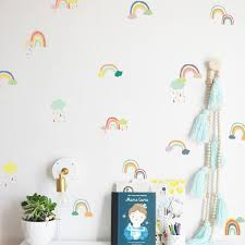Wall Sticker Kawaii Colorful Rainbow Wallpaper Vinyl Decal Mural Kid S Room Decor Paper Sheet Baby Nursery