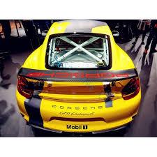 Porsche 981 Cayman Gt4 Rear Wing Spoiler Decal Sticker Straight