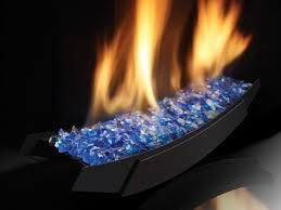 cobalt blue glass in living room
