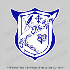 Sigma Nu Sigma Crest Car Window Decal Bumper Sticker