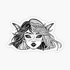 Pixie Haircut Stickers Redbubble