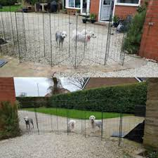 Flexipanel Folding Dog Pet Fence Barrier Fencing Garden Expanding Gate Pen 1m Ebay