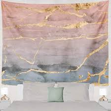 Amazon Com Lalilo Marbles Decorative Tapestry Rose Gold Foil Marble Ombre Watercolor Pink And Wall Hanging Tapestry For Bedroom Living Kids Girls Boys Room Polyester 60 L X 60 W Home Kitchen