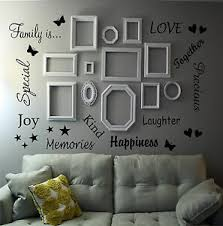 Family Is Quote Wall Art Sticker Words Decor Lounge Hallway Room Photo Frames Ebay