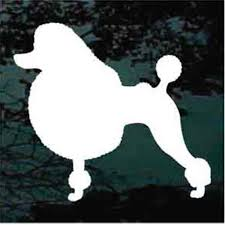 Solid Poodle Car Window Decals Stickers Decal Junky