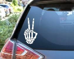 Skeleton Hand Decal Etsy