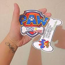 Invitacion Paw Patrol Con Imagenes Invitaciones De Paw Patrol