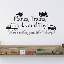 Buy Planes Trains Trucks Toys Wall Sticker Children Playroom Decal Baby Bedroom Boy Room Vinyl Home Play Art Decor Small Toys Tomato Red Words Teal In Cheap Price On Alibaba Com