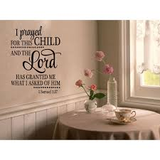 Shop Large Letters Prayed For This Child Wall Art Sticker Decal Overstock 11554424