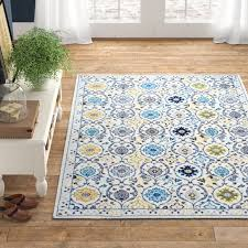 ansel blue yellow area rug