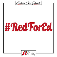Redfored Decal I Support Teachers Bumper Sticker Education Red For Ed Car Vinyl Collectibles Decals Stickers Ihslyrics Com