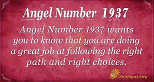 Angel Number 1937 Meaning | SunSigns.Org
