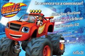 Invitacion Para Cumpleanos Tema Blaze Blazandthemonstermachine