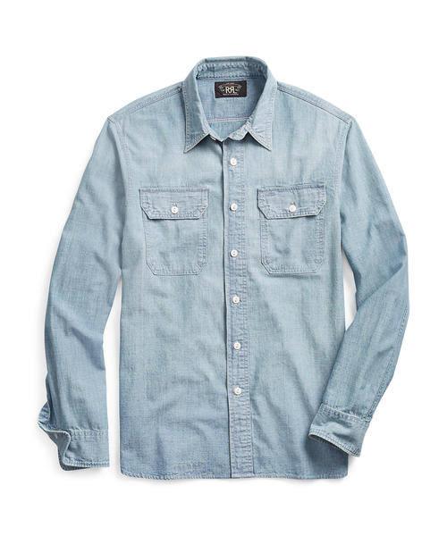 """「ブランド:RRL Ralph Lauren 「インディゴ シャンブレー ワークシャツ」」の画像検索結果"""""""