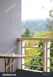 Open Air Balcony Terrace Mountain Resort Stock Photo Edit Now 1154034130